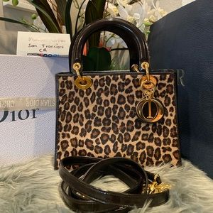 💕🍀Authentic Christian Dior Lady Bag Leopard 💕🍀